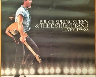 Poster for Bruce Springsteen  1975-1985 album.