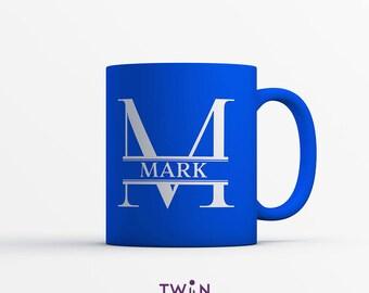 Custom Initial Mug - Personalised Monogram Mug with Name