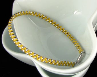 Stainless Steel Ball braided bracelet