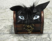 Dungeons And Dragons Mimic Box Desk Organizer Monster Trinket Box Ring Box Small Storage Stash Black Leather Harry Potter Labyrinth