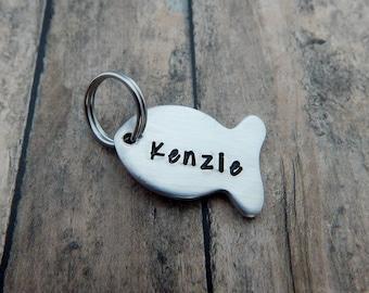 Fish Name Charm Add On - Name Charm for Key Chain - Keychain Name Charm