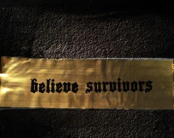 Gold Believe Survivors patch