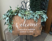 Welcome Sign Wedding Wood, Wedding Wedding Sign, Wedding Welcome Sign, Signage Reception, Bridal Shower, Baby, Rehearsal Dinner wooden gold