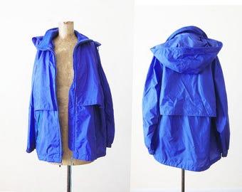 90s windbreaker - vintage windbreaker - hooded windbreaker jacket - eddie bauer jacket - camping jacket - hiking jacket - Womens windbreaker