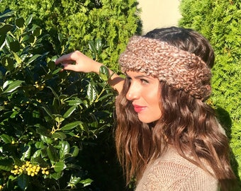Braided crown cabled headband