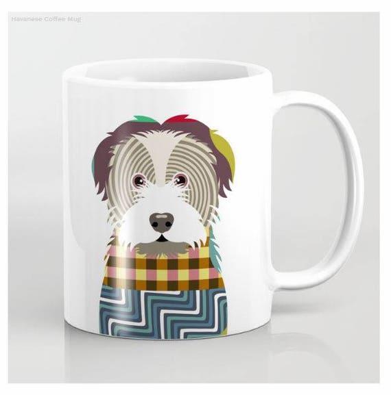 Havanese Mug, Havanese Gifts, Havanese Print, Havanese Gift, Pet Gifts, Pet Mug, Dog Lover Mug