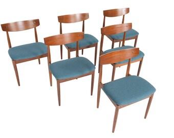 set of six mid century modern ib kofod larsen for g plan teak dining chairs - Mid Century Modern Dining Room Chairs