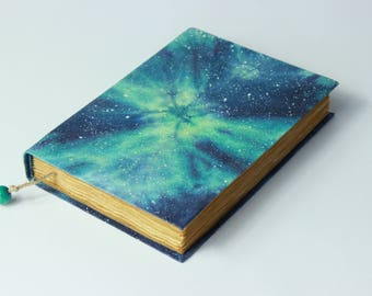 Galaxy handmade journal, diary, notebook, stars, cosmos, universe, old paper