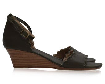DREAMLAND. Leather wedges / women shoes / leather sandals / wedge sandals / wedge shoes. Sizes 35-43. Available in different leather colors