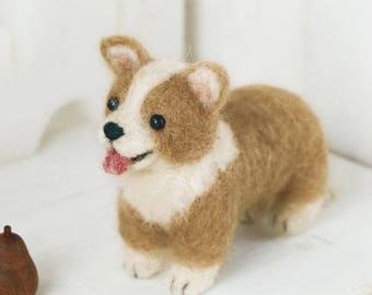 Welsh Corgi Dog Hamanaka Felt Wool Mascot Wool Felt Kit Designed H441-303