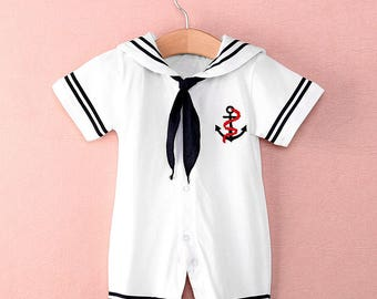 Baby Boy's Nautical Theme Party Sea Sailor Outfit