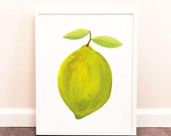 11x14 Printable Lime Painting