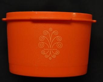 Vintage Orange Tupperware Canister - No Lid