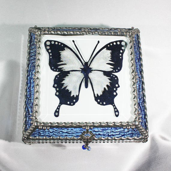 Butterfly Jewelry Box, Trinket Box, Treasure Box