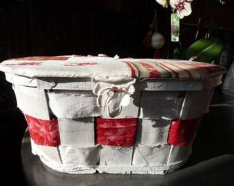 WHITE BOX AND LID MULTI FABRIC