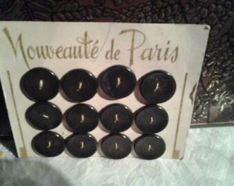 Plate buttons antique color grey black