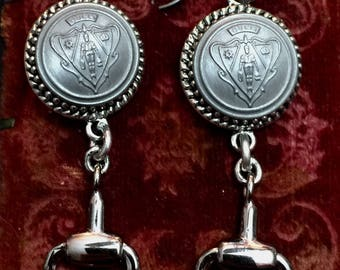 Authentic Gucci Button Earrings Upcycled