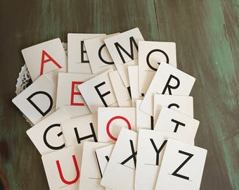 "Alphabet Letters Die-cuts 26 Pcs. Reversible Lower & Uppercase Alphabet Letters Diecuts 3 5/8"" tall"