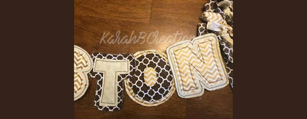 personalized name banner rustic birthday banner shower