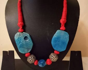 Indian Jewellry,   cotton thread necklace , bollywood necklace,  adjustable Indian necklace