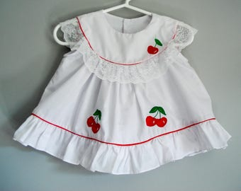 Cutest little cherry dress - 12 months