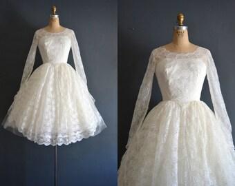 Cedella / 60s wedding dress / vintage 1950s wedding dress
