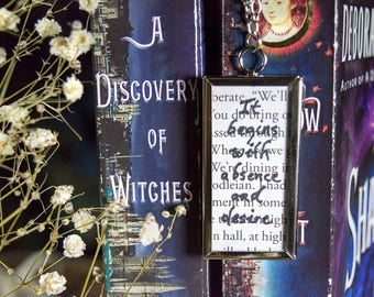 A Discovery Of Witches Book Necklace Book Jewelry All Souls Trilogy Book Necklace Book Jewelry Book Club Gifts Bookish Gifts Bibliophile