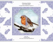 Christmas Robin Step By Step Decoupage Lace Corner Stacker Card Topper