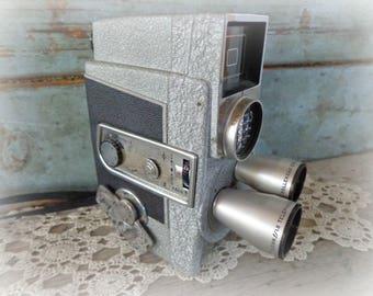 revere eye-matic 8 mm camera 1950's movie camera magazine eight film camera retro mid century