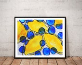 abstract art print / orga...