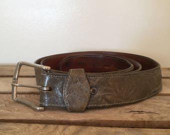 """Vintage Tony Lama - George Strait Belt / 44-48 """""""