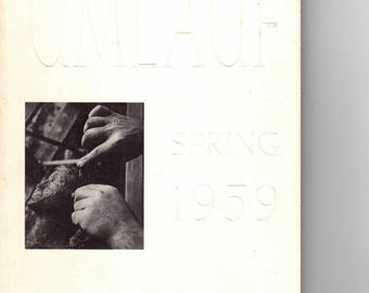 The Sculpture of Charles Umlauf, Spring 1959, Valley House Gallery, Art Exhibition Catalog, Vintage Art Book, Collectible Art Catalog