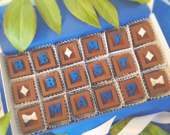 Will You Be My Best Man Proposal - Chocolate Be My Best Man - Groomsman Gift - Wedding Party Proposal