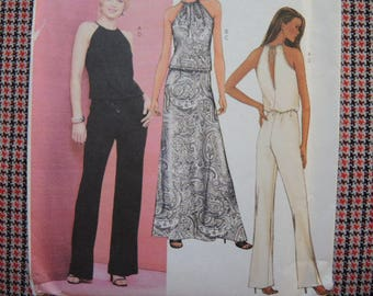 2000s sewing pattern Butterick 3452 misses top skirt and pants UNCUT size 6-8-10