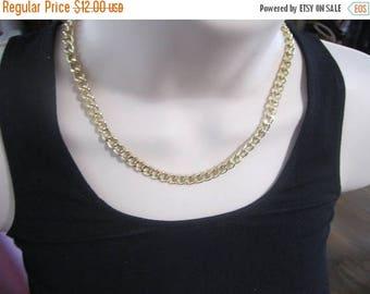 Goldtone chain necklace, vintage chain
