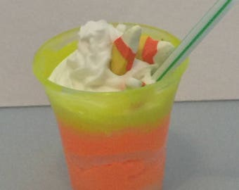 Halloween shake,milk and cookies,resin strawberry drink,18 inch dolls,American girl dolls accessories