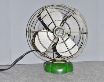Zero Metal Fan ~ Vintage Fan ~ Green Fan ~ Home Decor ~ Epsteam