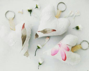 Shabby romantic mini fabric hearts. Stuffed. Wedding gift, favour, home decor, accessories