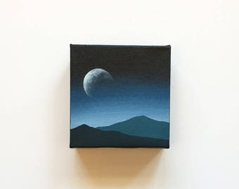 In This Twilight | Original Acrylic Painting | 4x4 Inches | By Janelle Anakotta