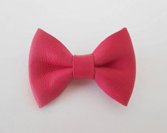 Barrette leather knot of 4.5 x 3 cm