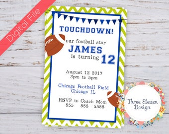 Football Printable Birthday Invitation