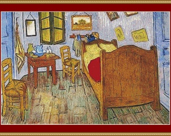 La Chambre De Van Gogh Cross Stitch Pattern