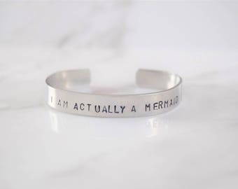 I Am Actually A Mermaid Bracelet