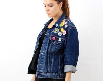 SALE Vintage Levis Blue Denim Jacket M
