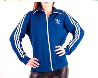 SALE Vintage Adidas / Blue Adidas / Adidas Trefoil / Adidas Track Jacket / XL Adidas / Retro Adidas / Man Adidas / Adidas Top / Sport Jacket