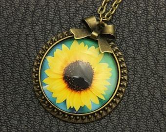 Sunflower Necklace, 2525C