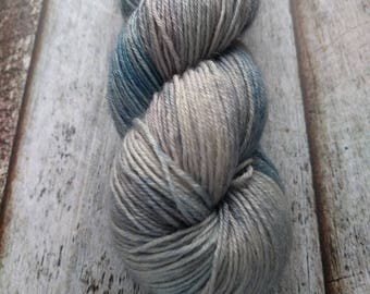 Sock Yarn, 100% superwash BFL, Lakeside, 400 m, 437 yd, blue, teal, grey gray