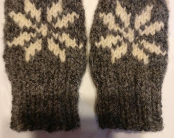 Infant Snowflake Mittens