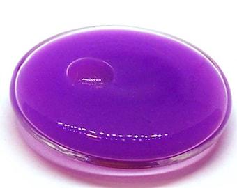 A globe round 34 mm purple OPAQUE liquid filled glass