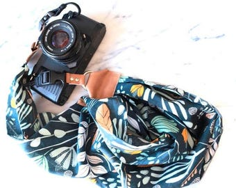 ON SALE The 'Maya' Scarf Camera Strap with Quick Release Buckles -- 1.5- 2 inches wide